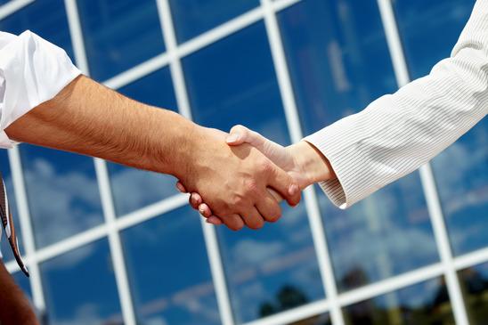 Image of handshaking of business partners